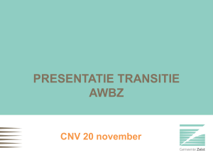 transitie awbz in zeist