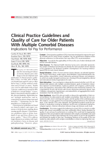 Clinical Practice Guidelines and Quality of Care for Older Patients