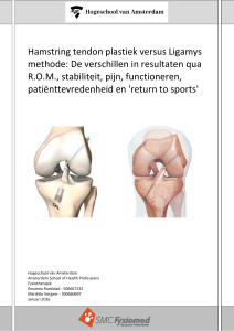 Hamstring tendon plastiek versus Ligamys methode