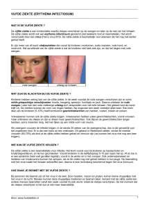 Vijfde ziekte (erythema infectiosum) (patientenfolder)