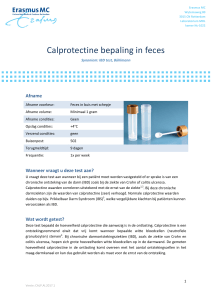 Calprotectine bepaling in feces