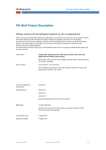 Format TKI-WoZ Project Description