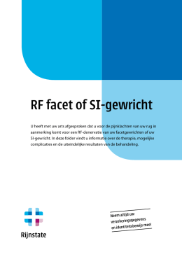 RF facet of SI-gewricht