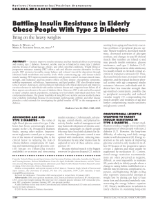 Battling Insulin Resistance in Elderly Obese People With Type 2