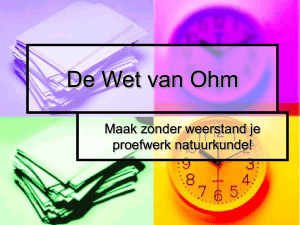 De Wet van Ohm