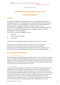 Strategisch beleidsplan SPV 2011-2014