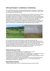 "Interreg-IV project ""Landschap in Verandering"