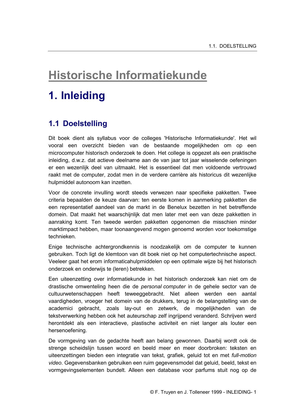 Historische Informatiekunde