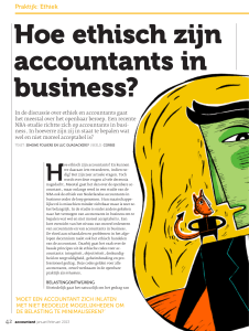 Hoe ethisch zijn accountants in business?