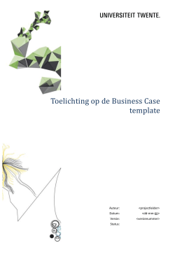 Business case toelichting PWD