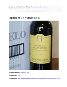 Aglianico Del Vulture d.o.c. : Jan Herbrink Selections : https://www
