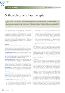 Orthomoleculaire haartherapie