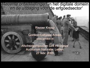 Slide 1 - Gordion Cultureel Advies
