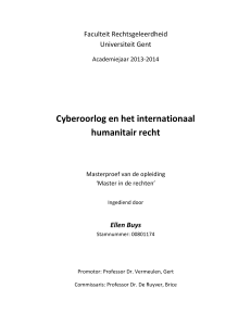 Cyberoorlog en het internationaal humanitair recht