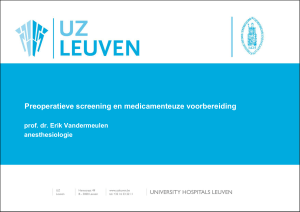 Preoperatieve screening en medicatie