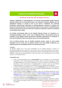 ALG DIR BE_Vacature 2015