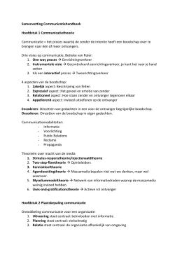 communicatie handboek michels samenvatting