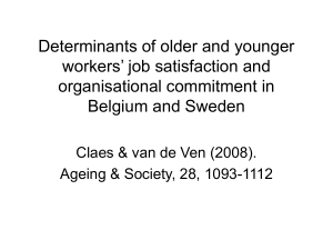 Determinants of older and younger workers` job satisfaction