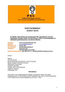 Nieuwsbrief PSC , uitgave rond 1 augstus