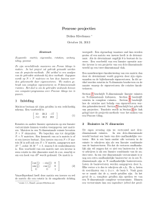 Penrose projecties
