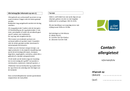 Contact- allergietest - az Sint