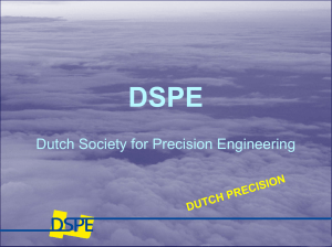 TMC/ TNO - Dutch Society for Precision Engineering