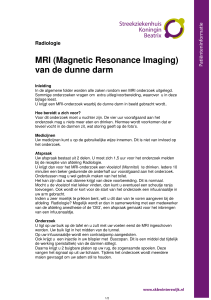 MRI (Magnetic Resonance Imaging) van de dunne darm
