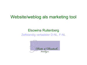Weblog als marketing tool - Teamwork Vertaalworkshops