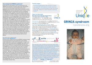 GRIN2A syndroom - Unique The Rare Chromosome Disorder