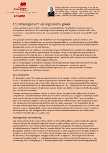 column Top Management en organische groei.