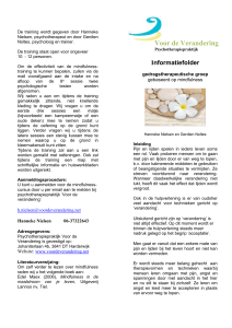 Doel van training in mindfulness