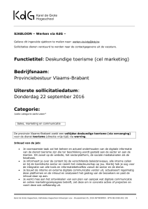 Deskundige toerisme (cel marketing)