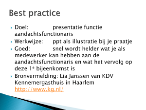 Best practice powerpoint aandachtsfunctionaris KDV