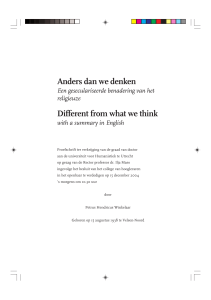 Anders dan we denken Different from what we think