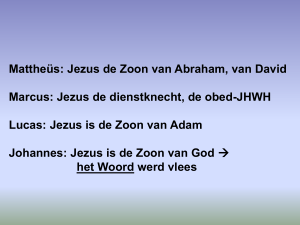 Jezus is de Zoon van Adam Johannes