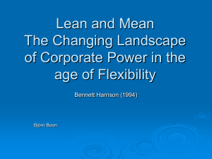 Lean and Mean The Changing Landscape of Corporate
