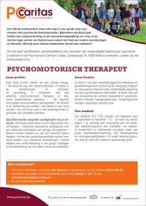 psychomotorisch therapeut