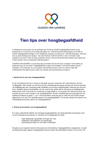 Tien tips over hoogbegaafdheid