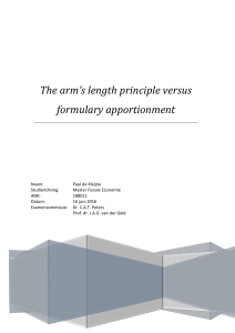 The arm`s length principle versus formulary apportionment
