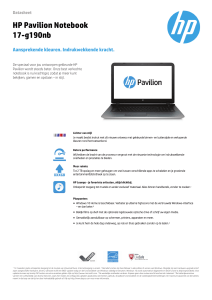 HP Pavilion Notebook 17-g190nb