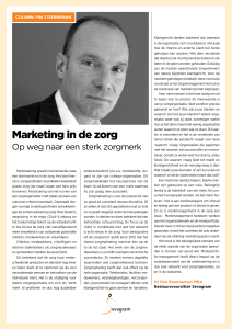 Marketing in de zorg