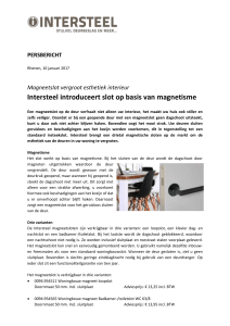 Intersteel introduceert slot op basis van magnetisme