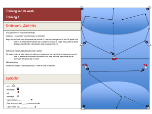 Zaaltraining van de week 3