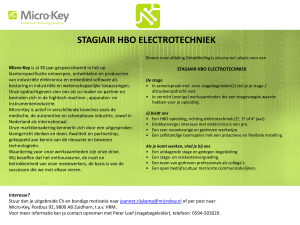 Stagiair HBO Electrotechniek - Micro-Key