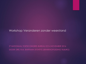 PowerPoint-presentatie - Nationale Toetscongres