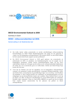 OECD Environmental Outlook to 2030 OESO