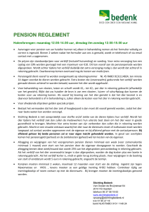 pension reglement - Stichting BEDENK