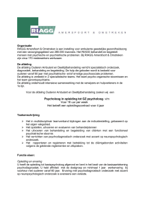 Format vacature Opleiding GZ- Psycholoog