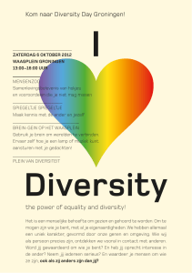 the power of equality and diversity! Kom naar Diversity Day Groningen!