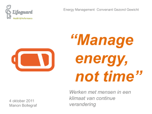 Manage energy, not time - Manon Bollegraf